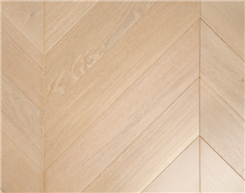 Bleached Oak Chevron Flooring