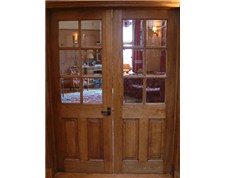 Half Glazed Internal Oak Door
