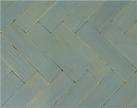 Mole's Breath Vintage Painted Oak Parquet
