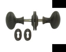 Beeswax Oval Mortice/Rim Knob Set
