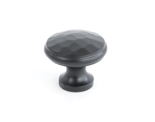 Black Beaten Cupboard Knob - Medium