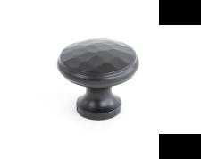 Black Beaten Cupboard Knob - Medium