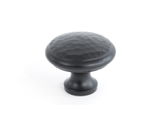 Black Beaten Cupboard Knob - Large