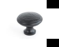 Black Beaten Cupboard Knob - Large