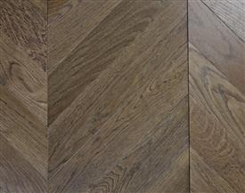 Dark Oak Chevron Flooring