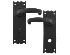 Black Cottage Lever Bathroom Set