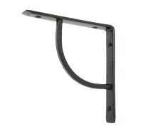 "Black 6"" x 6"" Plain Shelf Bracket"