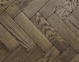Dark Vintage Oak Parquet Flooring