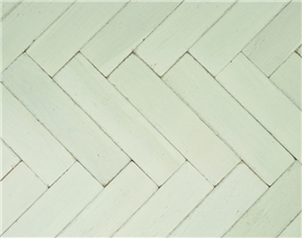 New White Vintage Painted Oak Parquet