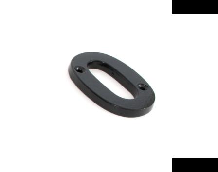 Black Numeral 0