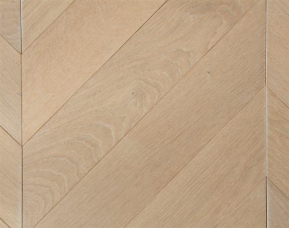 Whitewashed Oak Chevron Flooring