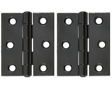 Black 3'' Heavy Duty Butt Hinge (pair)