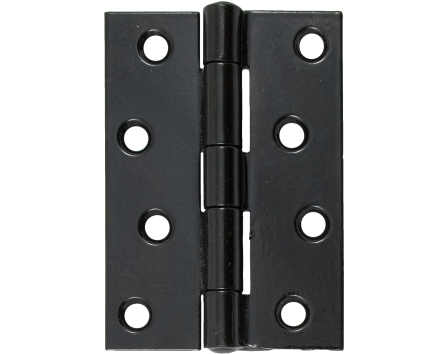 "Black 4"" Heavy Duty Butt Hinge (pair)"