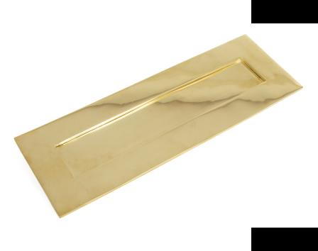 Polished Brass Letterplate - Large