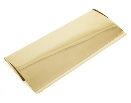 polished brass small letterplate cover - Letter Box Covers