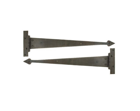 Beeswax 18'' Arrow Head T Hinge (pair)