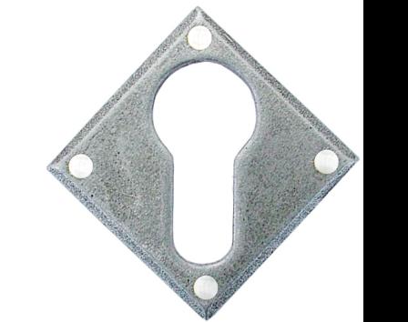 Pewter Diamond Euro Escutcheon