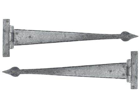Pewter 18'' Arrow Head T Hinge (pair)