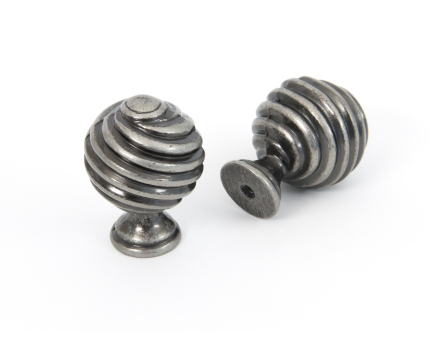 Pewter Patina Twist Knob