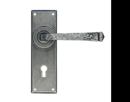 Pewter Patina Avon Pewter Lever Lock Set