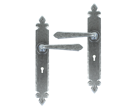 Pewter Cromwell Sprung Lever Lock Set