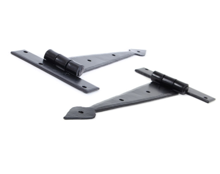 Black 9'' Arrow Head T Hinge (pair)