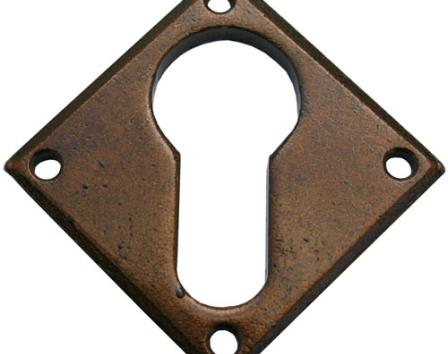 Bronze Diamond Euro Escutcheon
