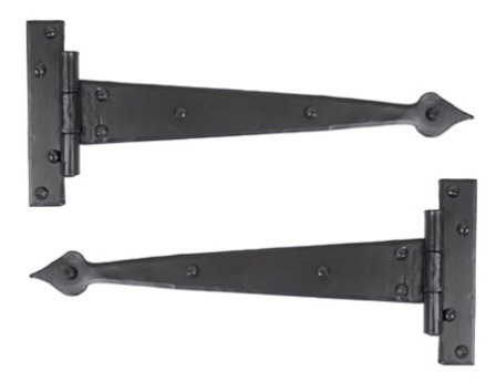 Black 12'' Arrow Head T Hinge (pair)