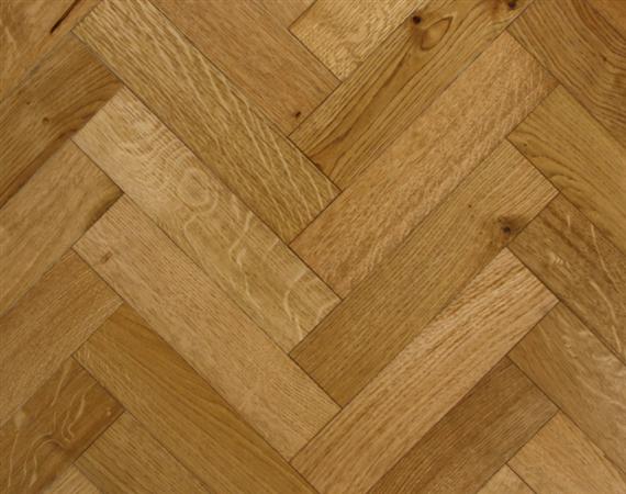 Aged Oak Parquet Flooring
