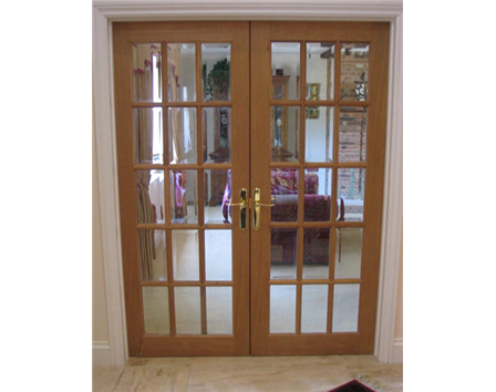 15 Panel Glazed Internal Oak Door