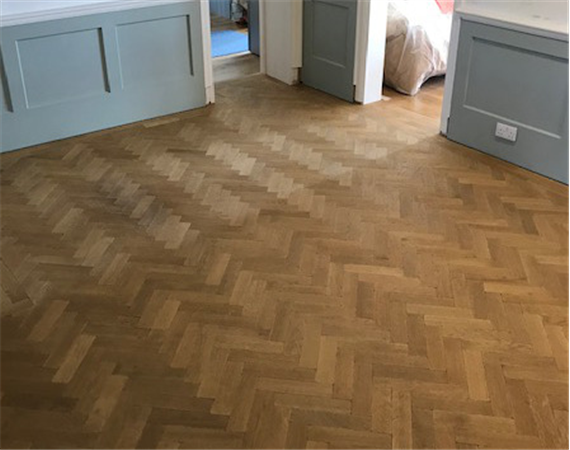 Aged Vintage Oak Parquet Flooring