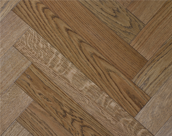 Worn Oak Parquet Flooring