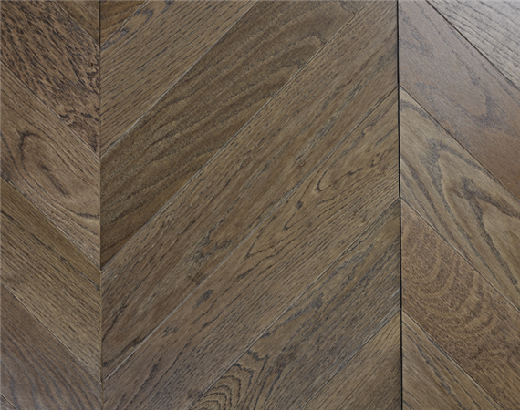 Dark Oak Chevron Flooring