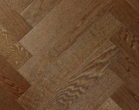 Polished Oak Parquet Flooring