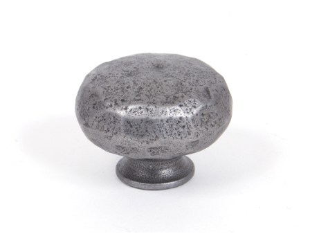 Natural Smooth Hammered Knob - Large