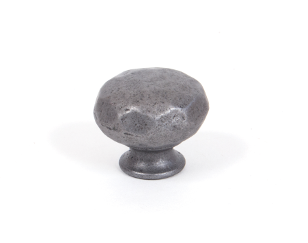 Natural Smooth Hammered Knob - Small