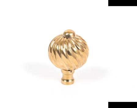 Polished Brass Spiral Cabinet Knob - Small
