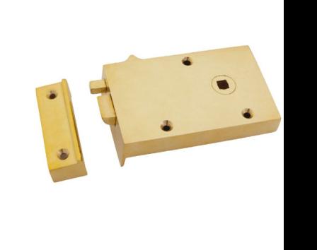 Polished Brass Right Hand Bathroom Latch