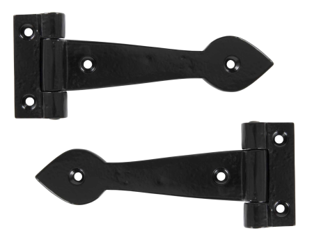 "Smooth T Hinge 6"" (pair) - Black"