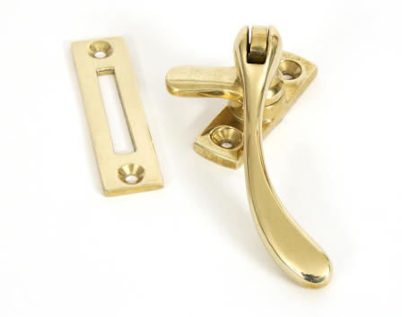 Polished Brass Peardrop Fastener