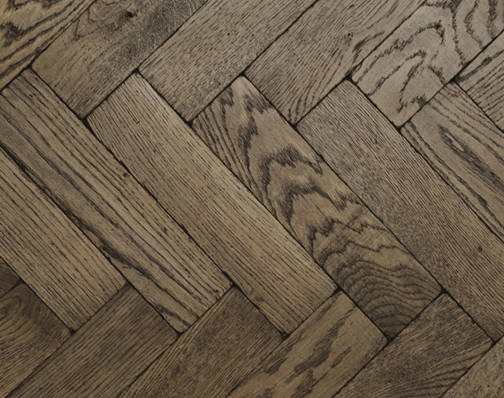 Dark Vintage Oak Parquet Flooring