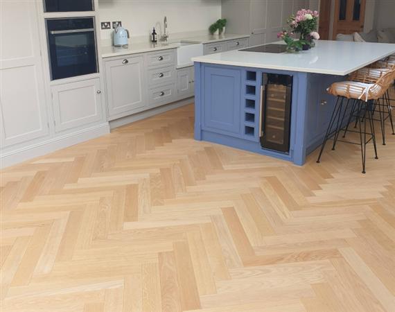 Nude Oak Parquet Flooring