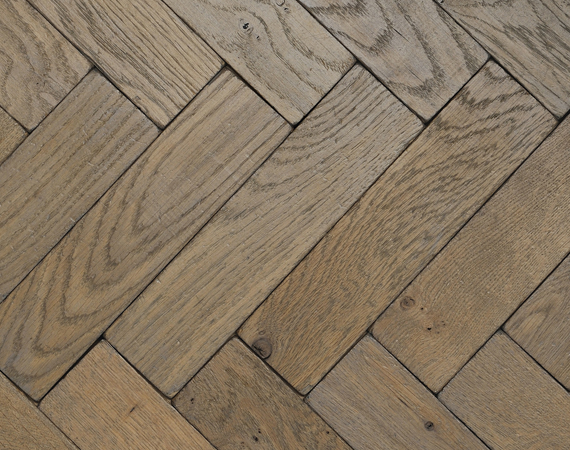 Silvered Vintage Oak Parquet Flooring
