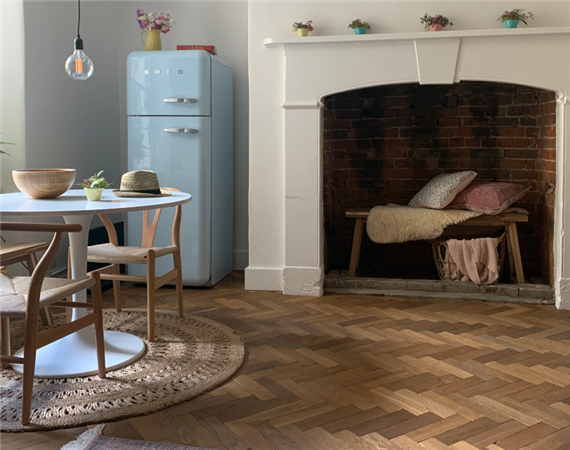 Smoked Vintage Oak Parquet Flooring