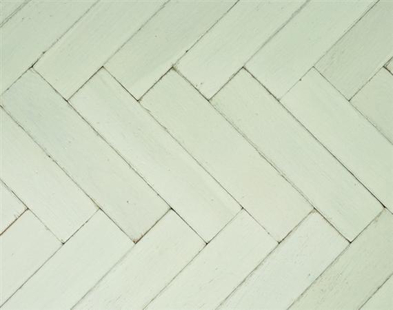 New White Vintage Painted Oak Parquet
