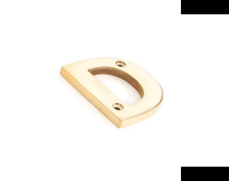 Polished Brass Letter D