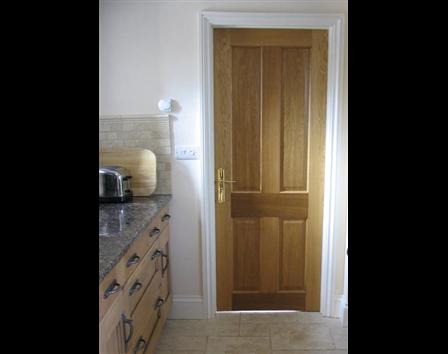 Panelled Oak Fire Doors