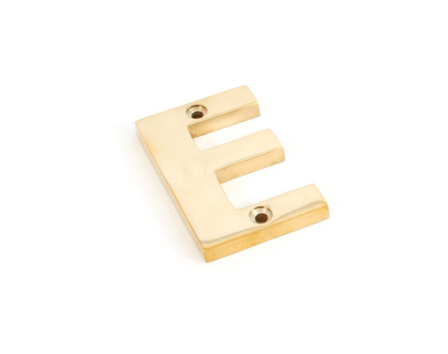 Polished Brass Letter E