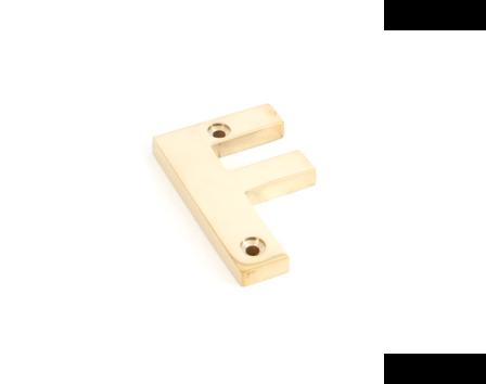 Polished Brass Letter F