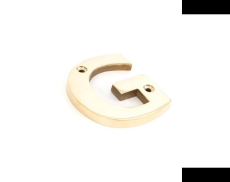 Polished Brass Letter G